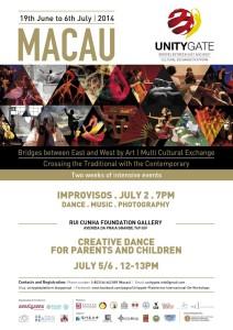 UNITYGATE – Improvisos Dança.Música.Fotografia Quarta-feira, 2 de Julho às 19:00 Fundação Rui Cunha em Macau